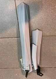 """Крылья 24-26"""" ТИП3 пластик (цв. серый)"""