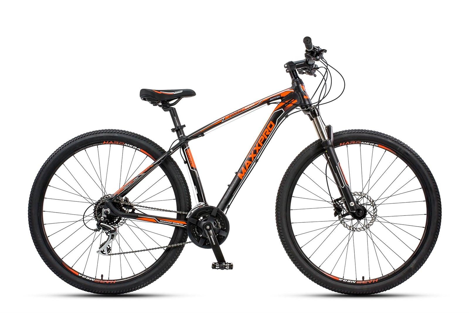 Велосипед MAXXPRO HARD 29 Mega черно-оранжевый