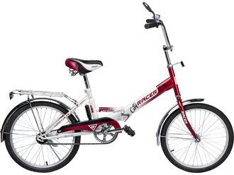 Racer 24-6-31 (красно-белый), складной велосипед