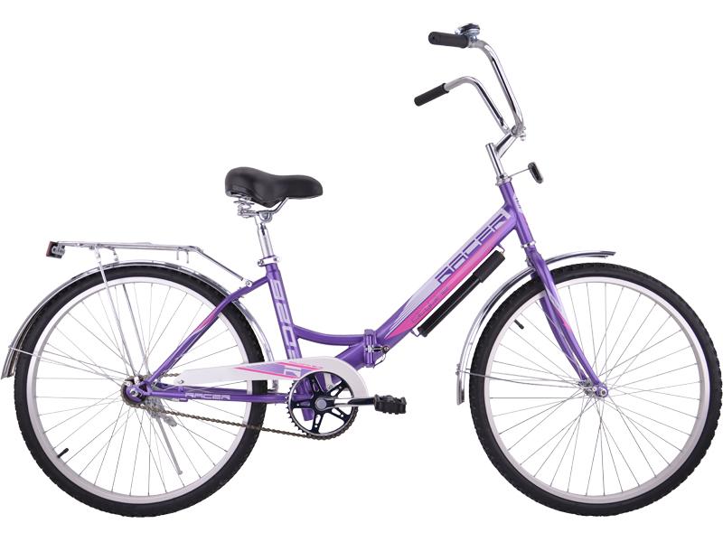 Racer 26-1-31 (фиолетовый), складной велосипед