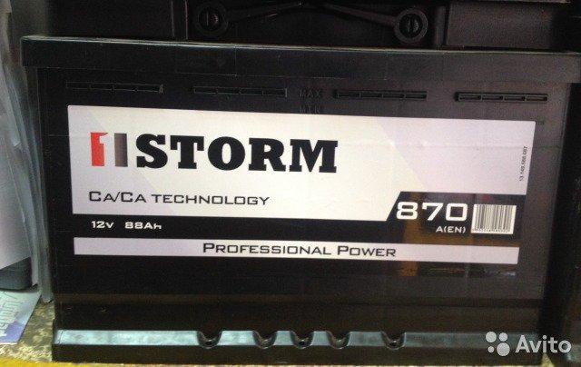 STORM Professional Power 88 А*ч (обратная полярность) АКБ для автомобилей, грузовиков
