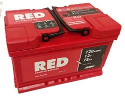RED Technology 6СТ-75 (обратная полярность) автомобильный аккумулятор