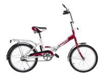 Racer 20-6-31 (бело-красный), складной велосипед для подростков