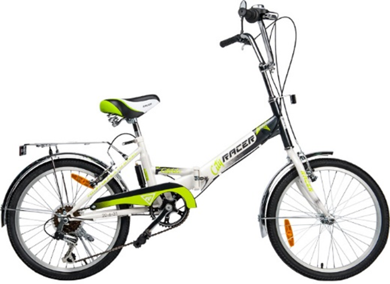 Racer 20-6-31 (серо-зеленый), складной велосипед для подростков