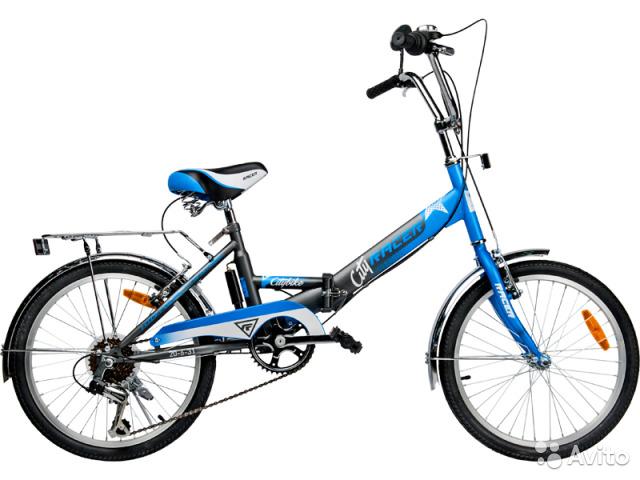 Racer 20-6-31 (серо-синий), складной велосипед для подростков