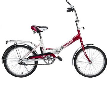 Racer 26-1-31 (красный), складной велосипед