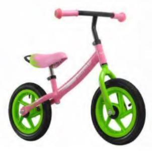 "Беговел Wind BabyRider 12"" зелено-розовый"