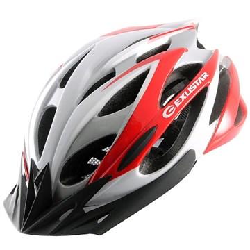 Велошлем, 23 вент. отверстия, красно-серо-белый, размер S/M (55-58 см) (TW)