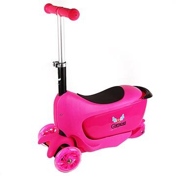 Детский трёхколёсный самокат Gimpel KM 110/80 Pink