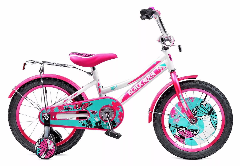Велосипед BLACK AQUA 1806-T бело-розовый (2018)