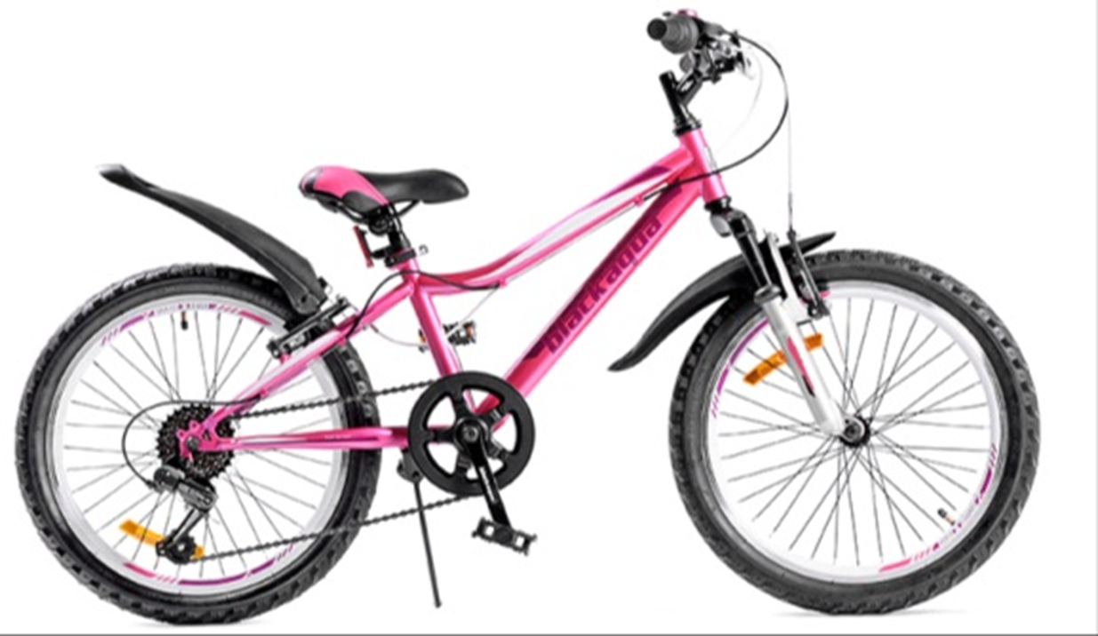 """Велосипед BLACK AQUA Lady 20"""" 1-скор фиолетовый-розовый (2018)"""