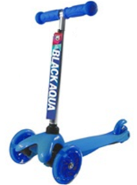 Самокат BLACK AQUA MG001 со светящимися колёсами синий