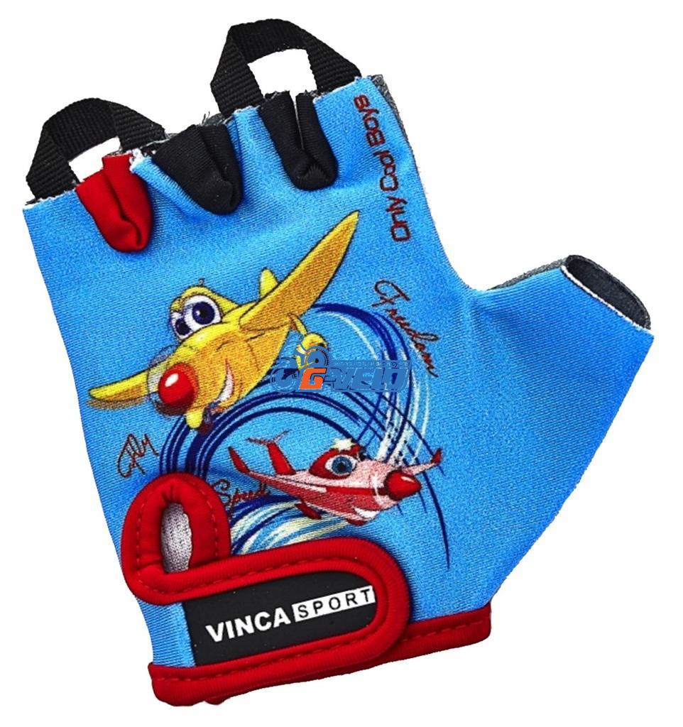 Детские велоперчатки VINCA SPORT VG 935 PLANE, размер 5XS