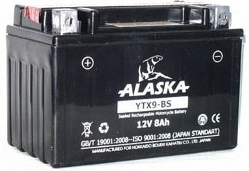Мото аккумулятор ALASKA YTX9-BS