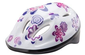Шлем защитный MV5-2 (out-mold) белый с цветами