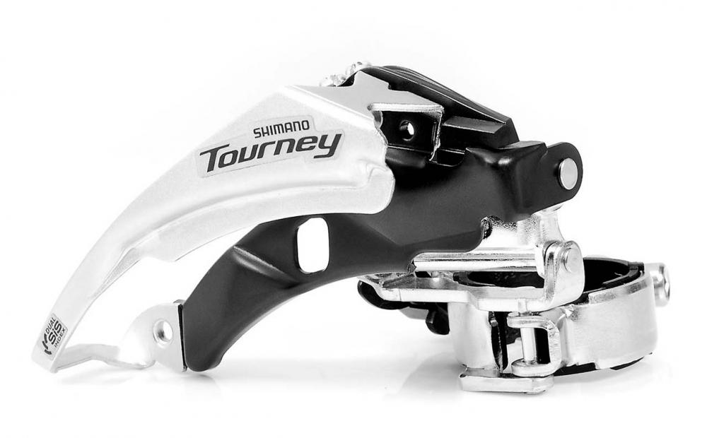 Переключатель скоростей передний Tourney FD-TY500 42-24T 31, 8 мм, универс. тяга