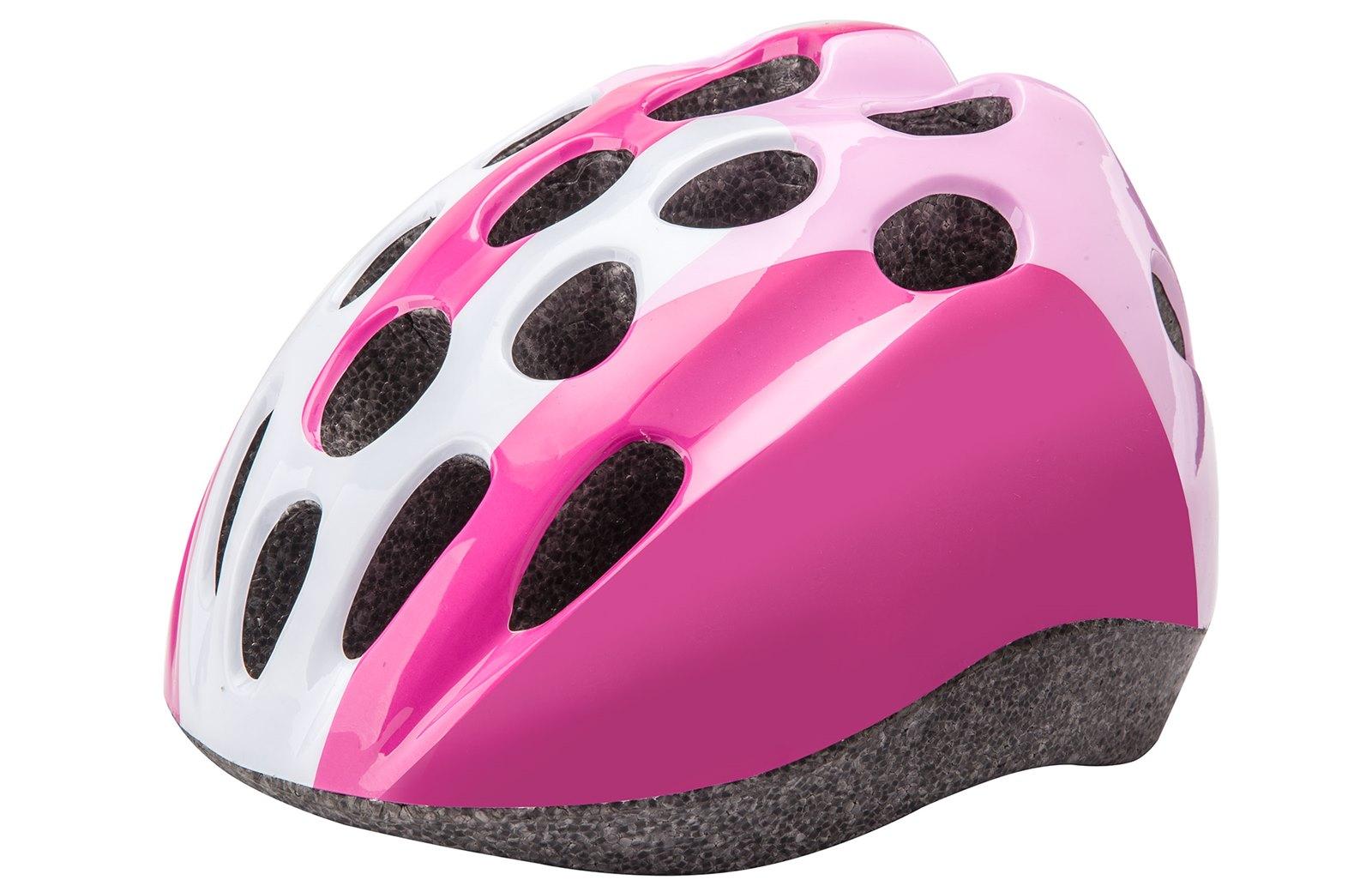 Детский защитный шлем HB5-3_a (out mold) бело-розовый