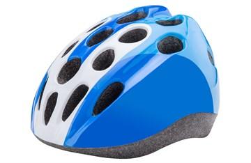 Детский защитный шлем HB5-3_c (out mold) бело-синий