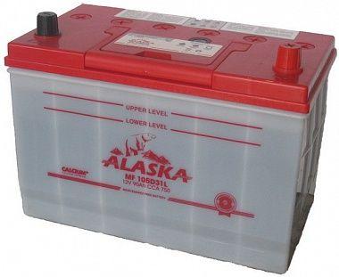 ALASKA  MF 90L 105D31 calcuim+, автомобильный аккумулятор