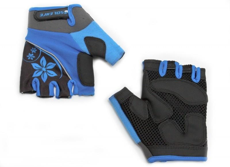 Велоперчатки SOLEHRE SB-01-5281B M, голубые