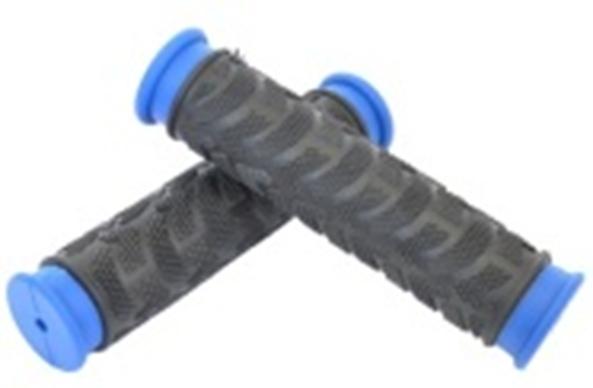 Рукоятки руля круглые комплект JK-1962 22,2 мм 125 мм/125 мм черный/синий