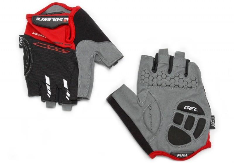 Велоперчатки SOLEHRE SB-01-5002B XL, чёрно-красные