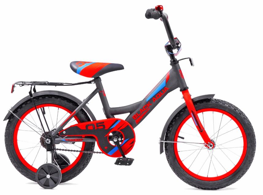 Велосипед BLACK AQUA 1605 серо-красный (2018)