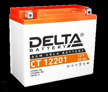Мото аккумулятор Delta CT 12201