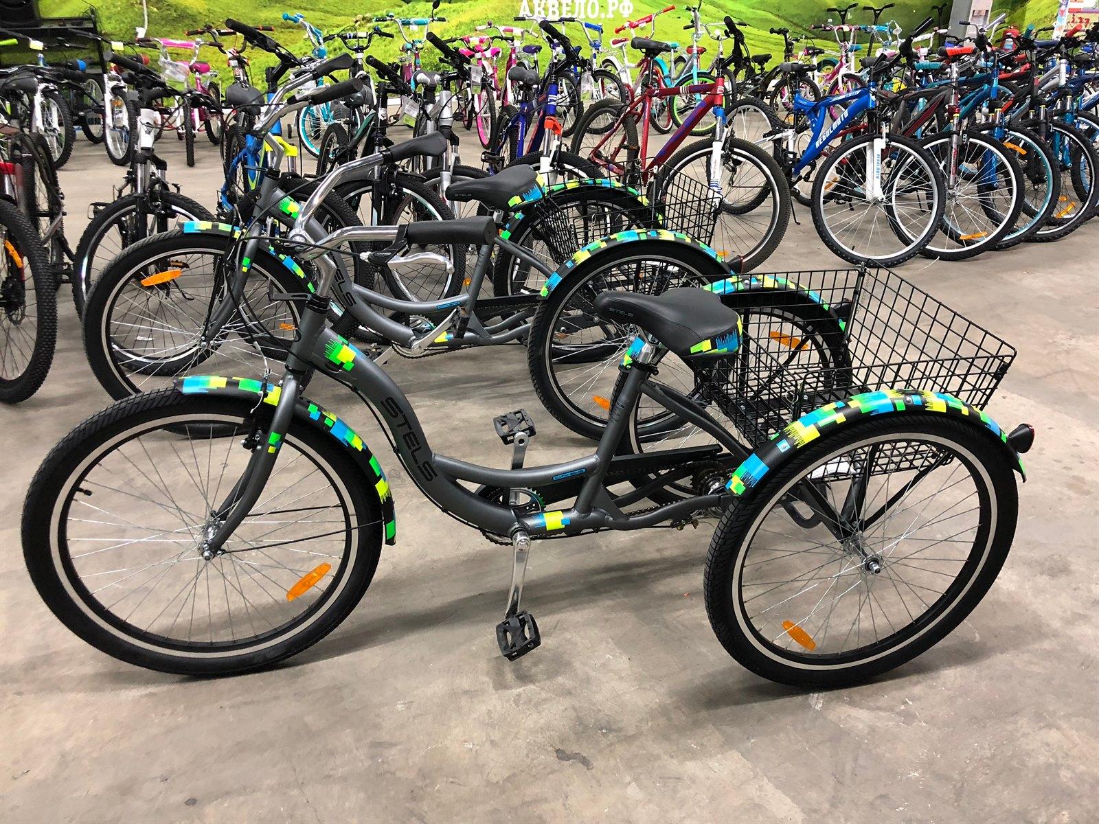 """Грузовой велосипед Stels Energy-I 26"""" (рама 16"""", цвет серый/чёрный)"""