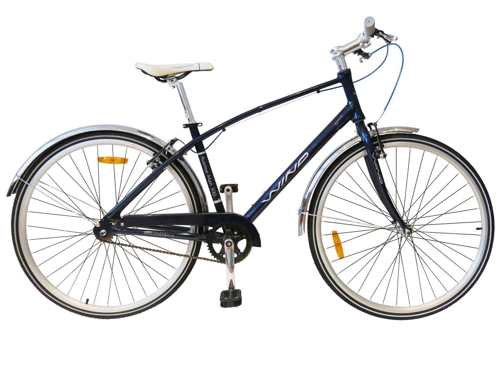 Мужской прогулочный велосипед WIND AVENUE Man 300 7-скр, синий