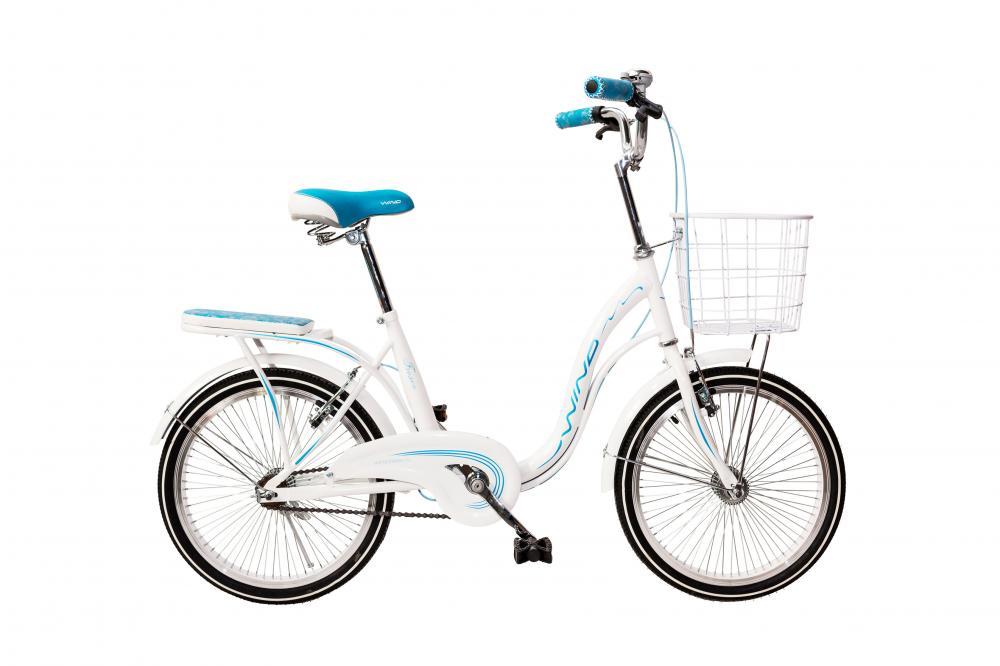 """Велосипед WIND FROZEN  20"""" 1-ск белый с корзиной"""