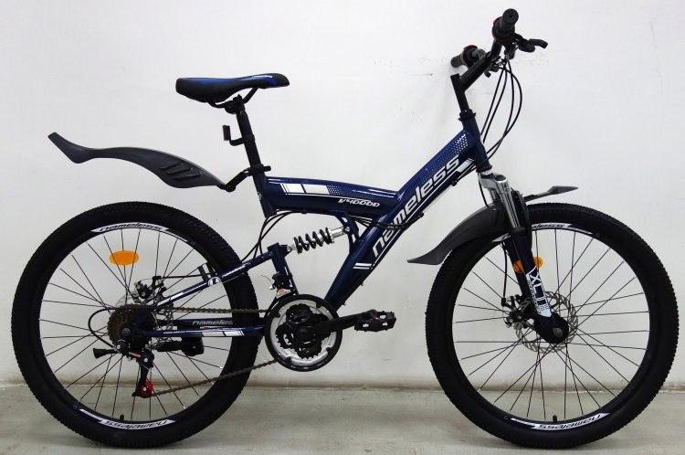 "Велосипед 24"" NAMELESS V4000D STEEL DISC синий"