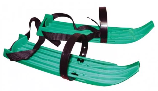 Мини-лыжи 37 см цвет зеленый