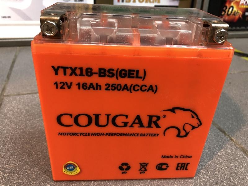 Аккумлуятор COUGAR GEL 12V16 YTX16-BS