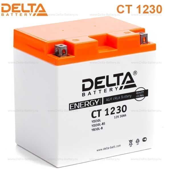 Аккумулятор DELTA CT 1230 для мототехники