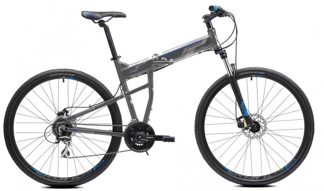 """Горный складной велосипед Cronus Soldier 1.0 рама 21"""" колеса 29"""" серо-голубой"""