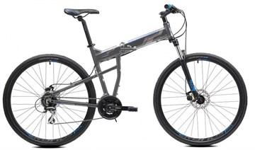 """Горный складной велосипед Cronus Soldier 1.0 рама 19"""" колеса 29"""" серо-голубой"""