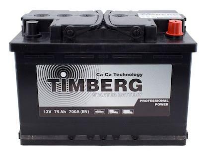 Аккумулятор Timberg Professional Power 75Ah R 700А