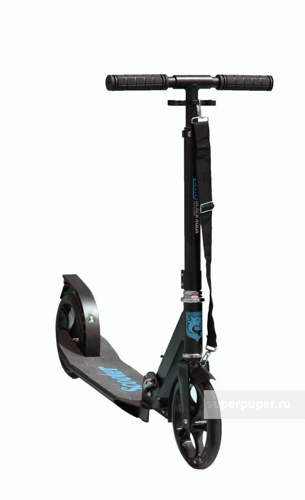 Складной самокат Black Aqua AS003