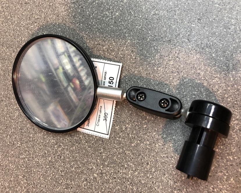Велосипедное зеркало заднего вида JY-6 чёрное