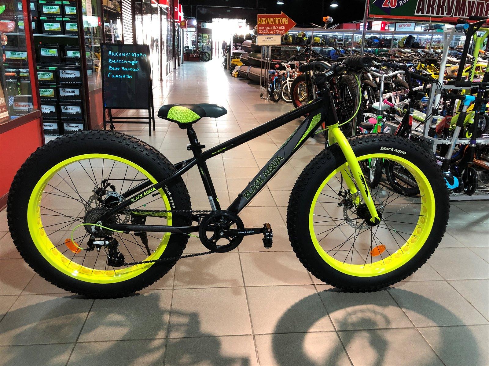 Велосипед BLACK AQUA Fat 2421 D matt 2018