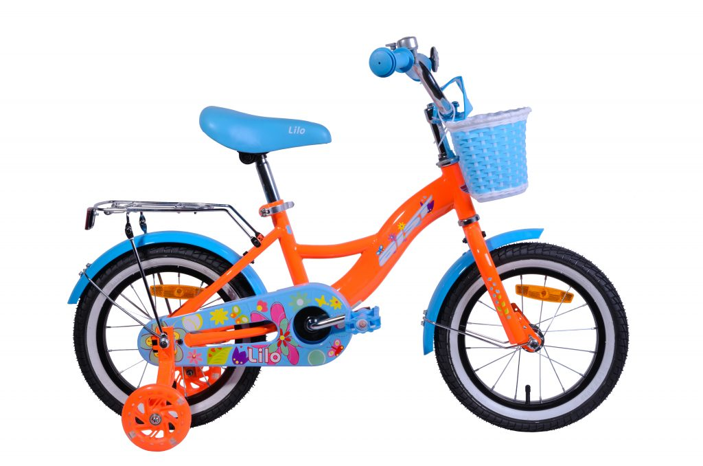 "Детский велосипед AIST LILO 14"" с корзинкой"