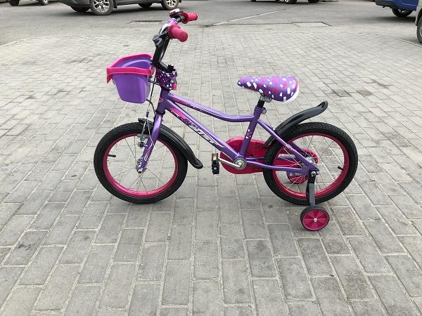 "Велосипед AIST WIKI 20"" с корзиной"