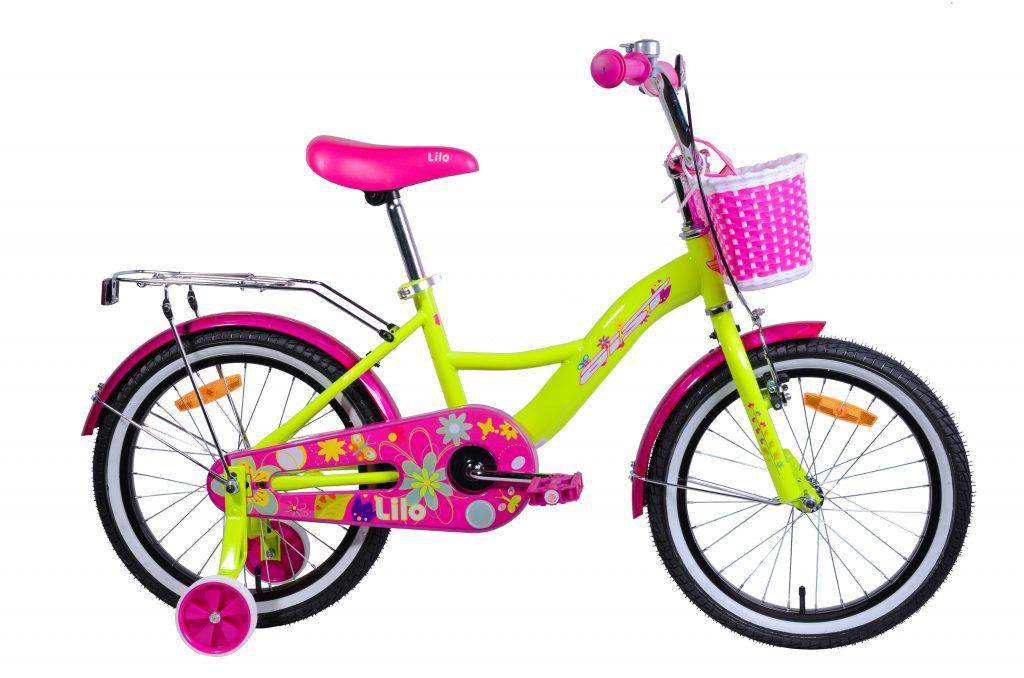 "Детский велосипед AIST LILO 18"" с корзинкой"