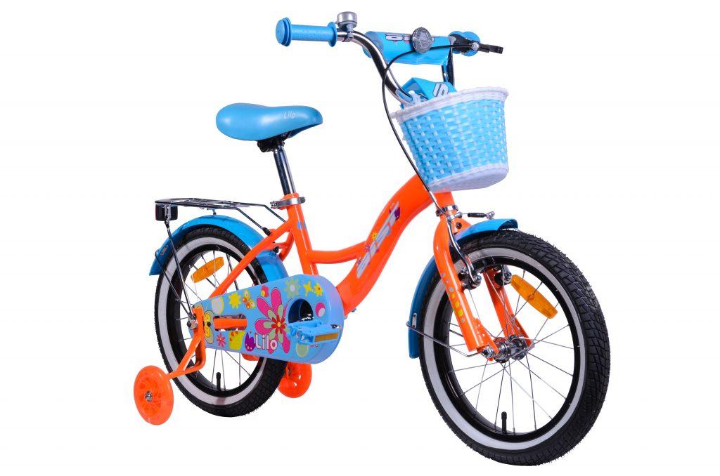 "Детский велосипед AIST LILO 16"" с корзинкой"