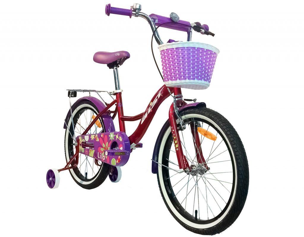 "Детский велосипед AIST LILO 20"" с корзинкой"