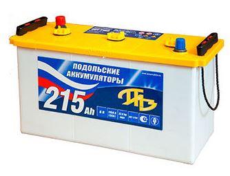 Аккумулятор ПАЗ 3-СТ-215 N