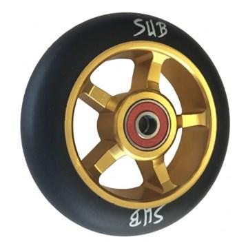 Колесо для прыжкового самоката 110 мм, ABEC-9, золото /чёрный