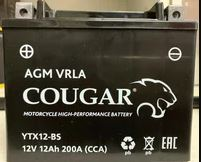 Мото аккумулятор Cougar AGM VRLA YTX12-BS