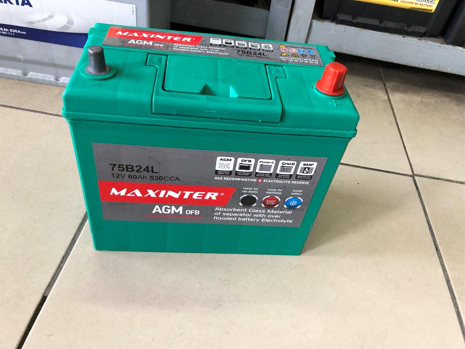 Аккумулятор Maxinter AGM OFB 75B24L